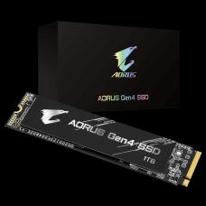 SSD Gigabyte Aorus Gen4, 1TB, M.2 2280, NVMe, Leitura 5000MBs e Gravação 4400MBs, GP-AG41TB