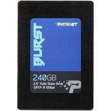SSD Patriot Burst 240GB, Sata III, Leitura 555MBs e Gravação 500MBs