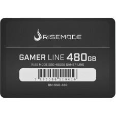 SSD Rise Mode Gamer Line, 480GB, Sata III, Leitura 535MBs e Gravação 435MBs, RM-SSD-480