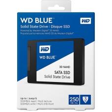 SSD WD Blue, 250GB, Sata III, Leitura 550MBs e Gravação 525MBs, WDS250G2B0A