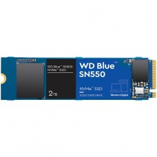 SSD WD Blue SN550 NVMe M.2, 2TB, PCI-Express 3.0 3D NAND, Leitura 2600MBs e Gravação 1800MBs, WDS200T2B0C