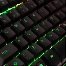Teclado Gamer DAZZ Rapid Fire Revolution, Rainbow, ABNT2, 625203 - Open Box