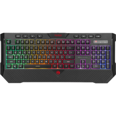 Teclado Gamer Marvo K656, Membrana, Rainbow