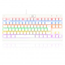 Teclado Gamer Mecânico Redragon Dark Avenger Lunar K568W-R, Rainbow, Switch Brown, ABNT2, White, K568W-R