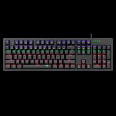 Teclado Gamer Mecânico T-Dagger Bermuda, RGB, Switch Blue, Black, ABNT2, T-TGK312-BL