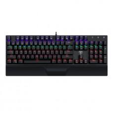 Teclado Gamer Mecânico T-Dagger Destroyer, Switch Blue, Rainbow, Black, ABNT2, T-TGK305-BL