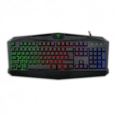 Teclado Gamer T-Dagger Tanker, Rainbow, Black, T-TGK106