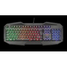 Teclado Gamer Trust Avonn, LED Rainbow, Anti-Ghosting até 6 teclas, GXT830-RW