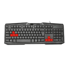 Teclado GamerTrust Ziva, USB, ABNT2, T22413