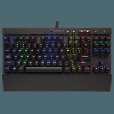 Teclado Mecânico Corsair Gamer K65 LUX RGB, Switch Cherry MX RED, ABNT2, CH-9110010-BR