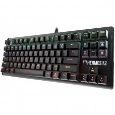 Teclado Mecânico Gamer Gamdias Hermes E2 Rainbow Switch Blue Preto