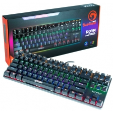 Teclado Mecânico Gamer Marvo Scorpion KG914, USB 2.0, Switch Azul, Rainbow