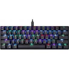 Teclado Mecânico Gamer Motospeed CK61 Essential, RGB, Switch Red, Black, FMSTC0091VEM