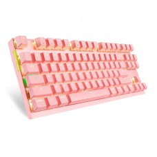 Teclado Mecânico Gamer Motospeed GK82 Wireless, Pink, Switch Blue, LED White, FMSTC0050AZL