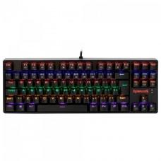Teclado Mecânico Gamer Redragon Daksa Rainbow, Switch Red Removíveis, ABNT, Black, K576R-1 PT-RED
