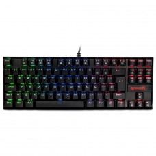Teclado Mecânico Gamer Redragon Kumara K552 RGB, Switch Blue, ABNT2, Black