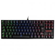 Teclado Mecânico Gamer Redragon Kumara K552 RGB, Switch Red, ABNT2, Black, K552RGB-1-PTRED