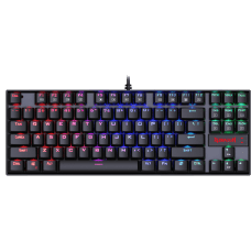 Teclado Mecânico Gamer Redragon Kumara K552 RGB, Switch Red, ABNT2, Black