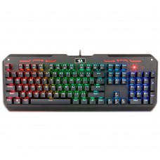 Teclado Mecânico Gamer Redragon Varuna K559 RGB, Switch Brown, ABNT2, Black