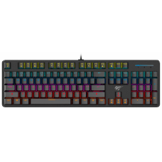 Teclado Mecânico Havit RGB, Switch Outemu Blue, ABNT-2, Black, HV-KB366L