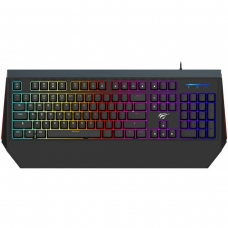 Teclado Mecânico Havit RGB, Switch Outemu Brown, ABNT-2, Black, HV-KB370LB