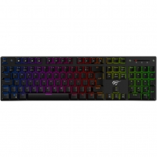 Teclado Mecânico Havit RGB, Switch Outemu Brown, ABNT-2, Black, HV-KB435LB