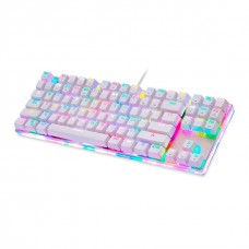 Teclado Mecanico Motospeed K87S, White, Switch Red, RGB, FMSTC0079VEM