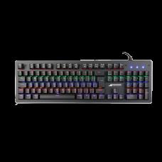 Teclado Mecânico SuperFrame, PLAYER 1, Rainbow, Switch Blue, ABNT2, Black