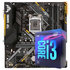 Kit Upgrade, Asus TUF B360M-Plus Gaming/BR + Intel Core i3 9100F