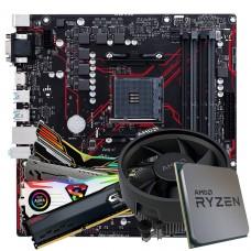 Kit Upgrade, Asus Prime B450M Gaming/BR + Ryzen 3 4300GE + Memória DDR4 8GB/2666MHz