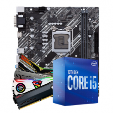 Kit Upgrade, Intel i5 10400F, ASUS Prime H410M-E, Memória DDR4 16GB (2x8GB) 3000MHz