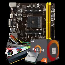 Kit Upgrade Placa Mãe Biostar A320MH DDR4 AMD AM4 + Processador AMD Ryzen 5 2400G 3.6GHz + Memória DDR4 8GB 3000MHz