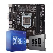 Kit Upgrade Biostar H410MH VER 6.0 + Intel Core i3 10105F + SSD 120GB