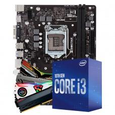 Kit Upgrade Biostar H410MH VER 6.0 + Intel Core i3 10100F + Memória DDR4 8GB 3000MHz