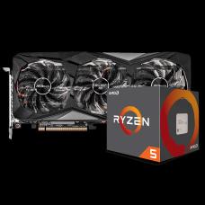 Kit Upgrade ASRock Radeon RX 6700 XT Challenger Pro OC + AMD Ryzen 5 5600X