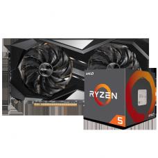 Kit Upgrade ASRock Radeon RX 6700 XT Challenger + AMD Ryzen 5 5600X