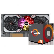Kit Upgrade ASRock Radeon RX 6700 XT Phantom Gaming D OC + AMD Ryzen 5 5600X