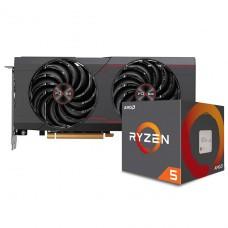 Kit Upgrade Sapphire Pulse Radeon RX 6700 XT + AMD Ryzen 5 5600X
