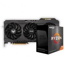 Kit Upgrade ASUS TUF Gaming Radeon RX 6700 XT OC + AMD Ryzen 7 5800X