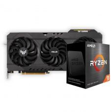 Kit Upgrade ASUS TUF Gaming Radeon RX 6700 XT OC + AMD Ryzen 9 5900X