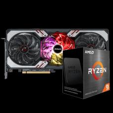Kit Upgrade ASRock Radeon RX 6700 XT Phantom Gaming D OC + AMD Ryzen 9 5900X