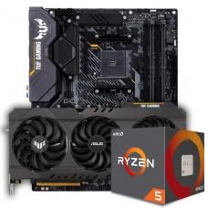 Kit Upgrade ASUS TUF Gaming Radeon RX 6700 XT OC + AMD Ryzen 5 5600X + ASUS TUF Gaming X570-Plus