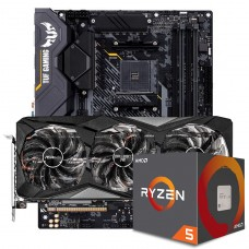 Kit Upgrade ASRock Radeon RX 6700 XT Challenger Pro OC + AMD Ryzen 5 5600X + ASUS TUF Gaming X570-Plus