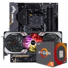 Kit Upgrade ASRock Radeon RX 6700 XT Phantom Gaming D OC + AMD Ryzen 5 5600X + ASUS TUF GAMING X570-Plus