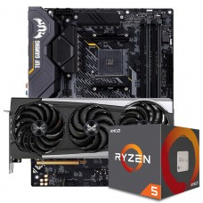 Kit Upgrade Sapphire Radeon RX 6700 XT + AMD Ryzen 5 5600X + ASUS TUF Gaming X570-Plus