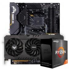 Kit Upgrade ASUS TUF Gaming Radeon RX 6700 XT OC + AMD Ryzen 7 5800X + ASUS TUF Gaming X570-Plus