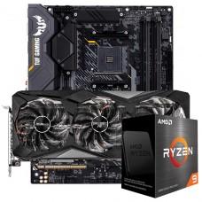 Kit Upgrade ASRock Radeon RX 6700 XT Challenger Pro OC + AMD Ryzen 9 5900X + ASUS TUF Gaming X570-Plus
