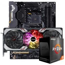 Kit Upgrade ASRock Radeon RX 6700 XT Phantom Gaming D OC + AMD Ryzen 9 5900X + ASUS TUF Gaming X570-Plus
