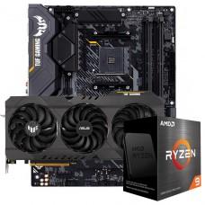 Kit Upgrade ASUS TUF Gaming Radeon RX 6700 XT OC + AMD Ryzen 9 5950X + ASUS TUF Gaming X570-Plus