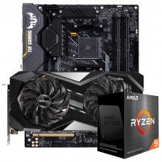 Kit Upgrade ASRock Radeon RX 6700 XT Challenger + AMD Ryzen 9 5950X + ASUS TUF Gaming X570-Plus